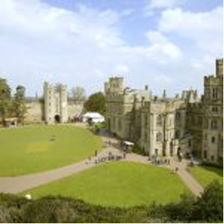 A picture containing grass, building, castle, old  Description automatically generated